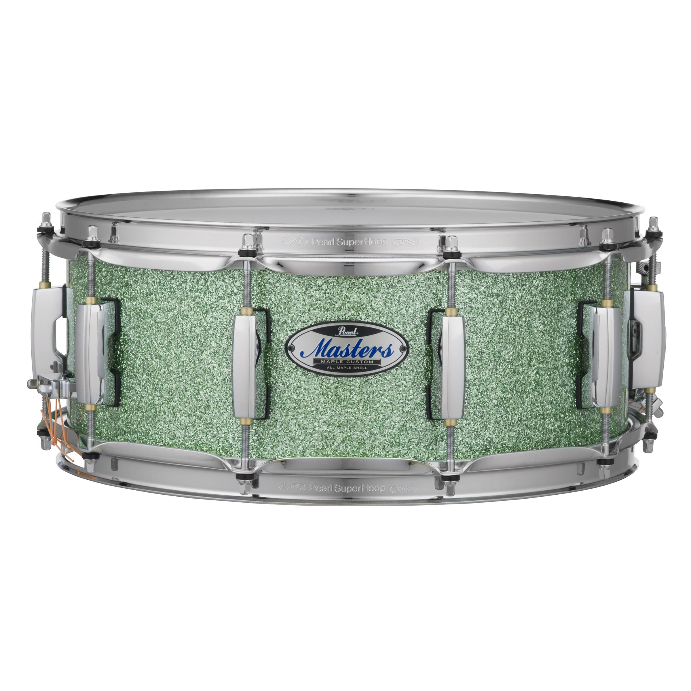 """Pearl Masters Maple Complete Snare Drum - 14 x 6.5"""", Absinthe Sparkle"""